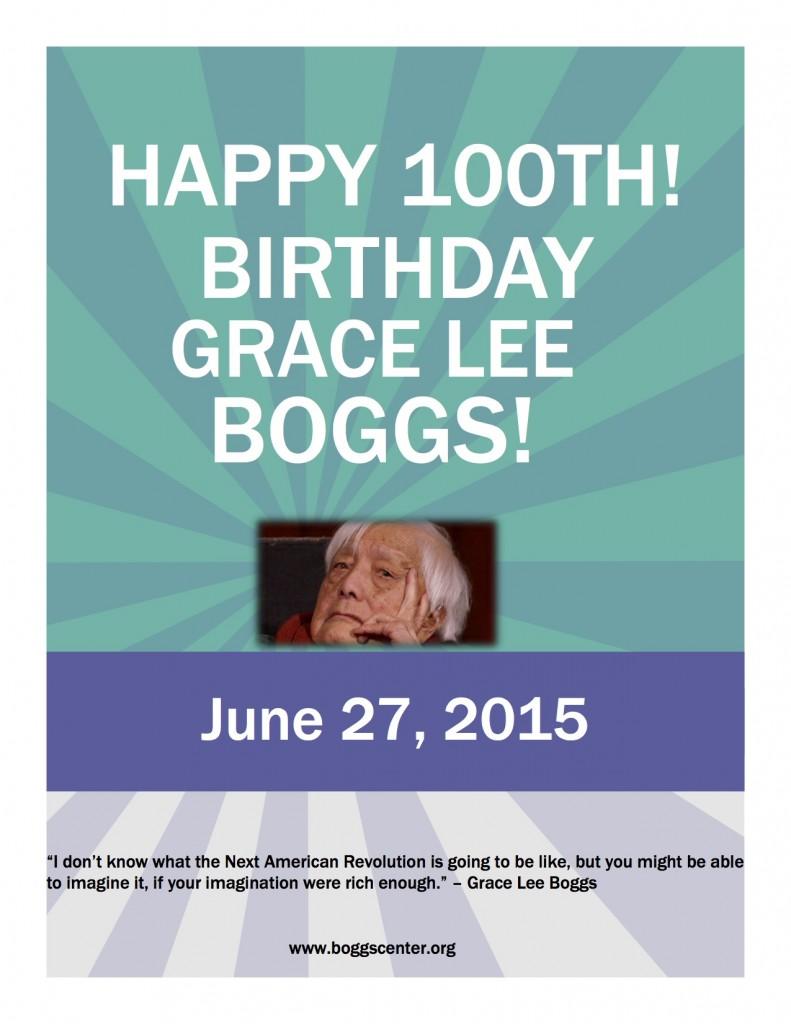 Happy Birthday Grace Lee Boggs